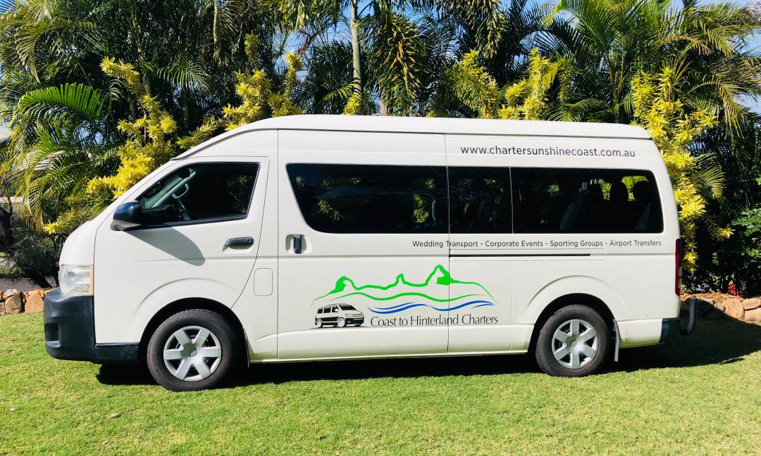 Coast to Hinterland Charters Minibus, Sunshine Coast